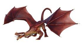 Märchen-Drache der Wiedergabe-3D auf Weiß Vektor Abbildung