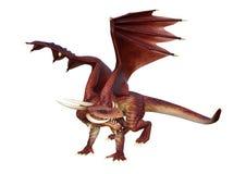 Märchen-Drache der Wiedergabe-3D auf Weiß lizenzfreie abbildung