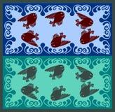 Märchen fischen Schwimmen im Wellenschaumgummi stock abbildung