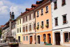 Märchen im Stadtzentrum gelegen in Skofja Loka, Slowenien Lizenzfreies Stockfoto