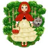 Märchen-kleines Rotkäppchen Stockbilder