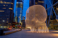 Märchenlandskulptur, Calgary Stockbilder