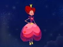 Märchenprinzessin im rosa Kleid vektor abbildung