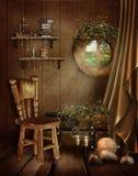 Märchenraum mit einem Fenster Stockfotos