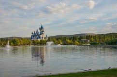 Märchenschloss in Sazova-Park, Eskisehir, die Türkei Stockfotos