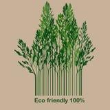Märk med eco-vänskapsmatchen 100% stock illustrationer