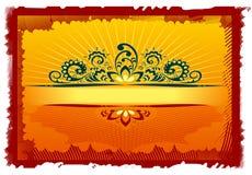 märk orange retro Royaltyfri Foto