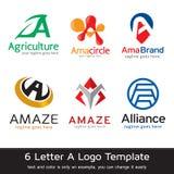 Märka en Logo Template Design Vector Fotografering för Bildbyråer