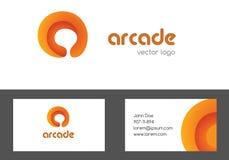 Märka en logotyp och en affärskortdesign Idérik kulör logo som kan användas till mycket En företags logodesign för bokstav Royaltyfria Foton