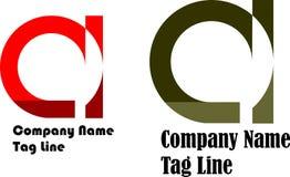 Märka en mörka logodesign och vektor som är röda och - grönt, designen för två logo royaltyfri illustrationer