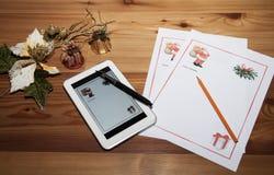 Märka för att avla att jämföra för julutvecklingar Fotografering för Bildbyråer