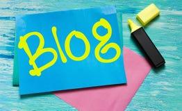 Märka för citationstecken för bloggord inspirerande Fotografering för Bildbyråer
