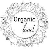 märka om naturalnessen av grönsaker och frukter royaltyfri illustrationer