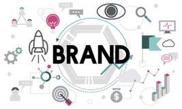 Märke som brännmärker advertizing kommersiellt marknadsföringsbegrepp vektor illustrationer