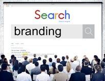 Märke som brännmärker begrepp för marknadsföringsadvertizingvarumärke fotografering för bildbyråer