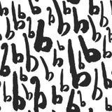 Märker den sömlösa modellen för vektorn med kalligrafi B Royaltyfria Bilder