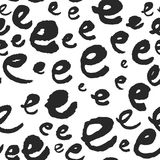 Märker den sömlösa modellen för vektorn med kalligrafi E Fotografering för Bildbyråer