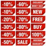 märker försäljning Arkivbilder