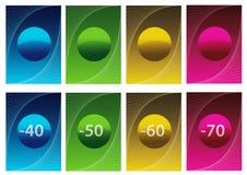 märker försäljningsvektorn Fotografering för Bildbyråer
