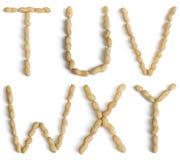 Märker gjort av jordnötter Arkivfoto