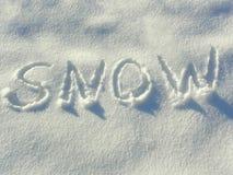 Märker i snowen Arkivbilder