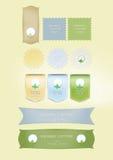 märker naturlig produktion Royaltyfri Illustrationer