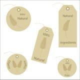 märker naturligt organiskt etikettsvete Fotografering för Bildbyråer