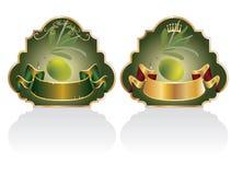 märker olivgrön Arkivbild