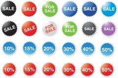 märker procentsatsförsäljning Arkivbilder