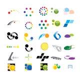 30 märkes- beståndsdelar för din design Arkivfoton