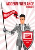 Märkes- freelancerdesignbegrepp stock illustrationer