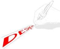 märkes- hand vektor illustrationer