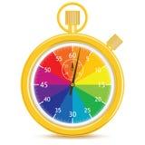märkes- s-stopwatch vektor illustrationer