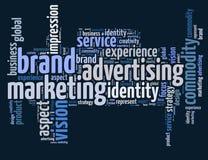 Märkesadvertizing och marknadsföring Arkivbild