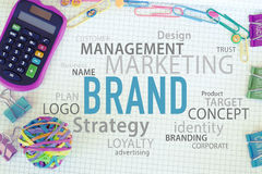 Märkesmarknadsföringsstrategi arkivfoton
