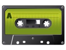 märkt grönt raster för kassett vektor illustrationer