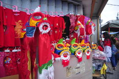 Märkte begrüßten das Chinesische Neujahrsfest in Semarang Lizenzfreie Stockbilder