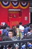 Märkte begrüßten das Chinesische Neujahrsfest in Semarang Lizenzfreies Stockfoto