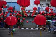 Märkte begrüßten das Chinesische Neujahrsfest in Semarang Lizenzfreies Stockbild