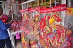 Märkte begrüßten das Chinesische Neujahrsfest in Semarang Stockfoto