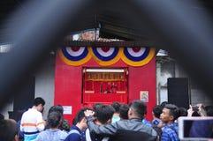 Märkte begrüßten das Chinesische Neujahrsfest in Semarang Lizenzfreie Stockfotos