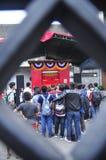 Märkte begrüßten das Chinesische Neujahrsfest in Semarang Stockfotos
