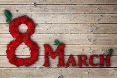 März acht Stockfoto