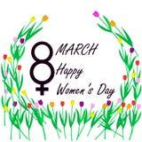März achter, internationaler Frauen ` s Tag, Lizenzfreie Stockfotos