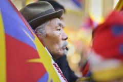 10. März Aufstiegs-Tag 2017 in Tibet, Bern switzerland Lizenzfreies Stockfoto