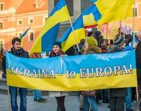 März der solidarität mit Ukraine Lizenzfreies Stockfoto