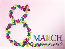8. März - der Tag der Frauen Lizenzfreies Stockfoto