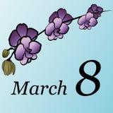 8. März - der Tag der Frauen Lizenzfreie Stockfotos