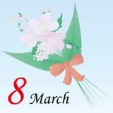 8. März - der Tag der Frauen Stockfotos