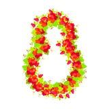 8. März der Tag der internationalen Frauen Feiertagssymbol Emblem acht Lizenzfreies Stockfoto